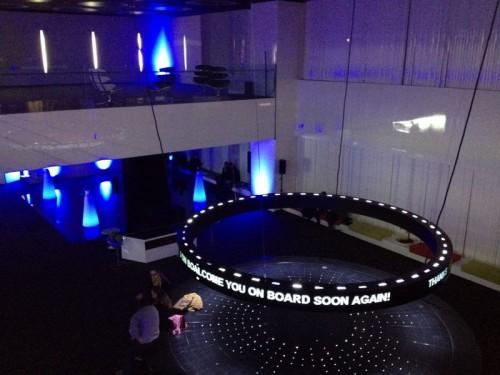 Lobby futurista en el Barceló Sants @elPachinko
