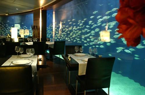 Restaurante submarino del Oceanogràfic en Valencia