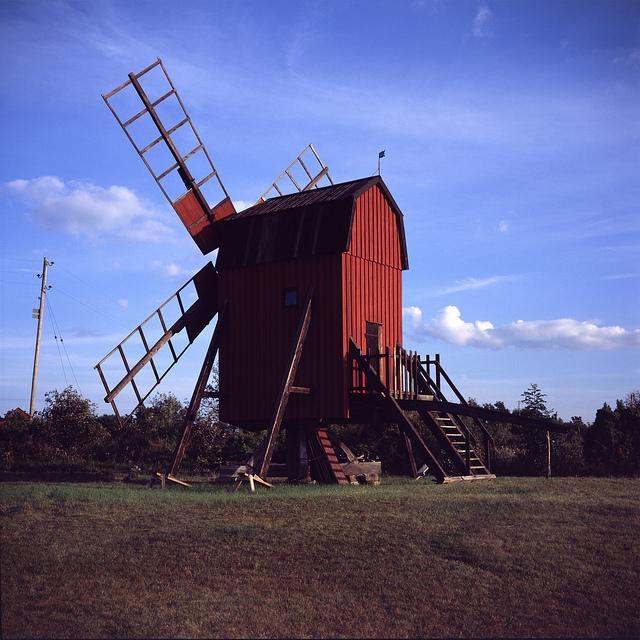 Uno de los molinos característicos de la isla de Öland