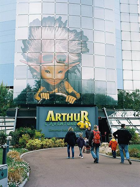 Entrada a la atracción de Arthur y los Minimoys