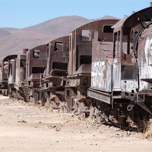 El cementerio de trenes de Uyuni