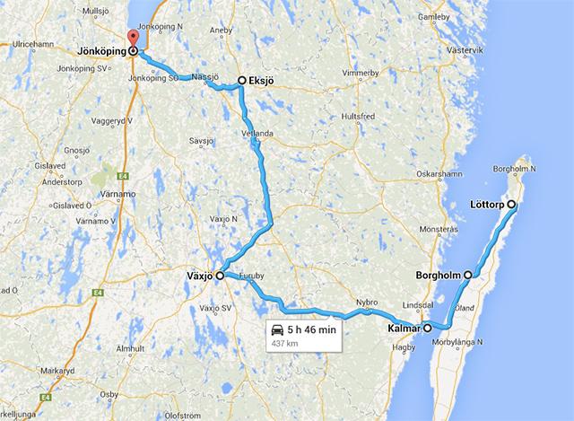 Ruta por Småland