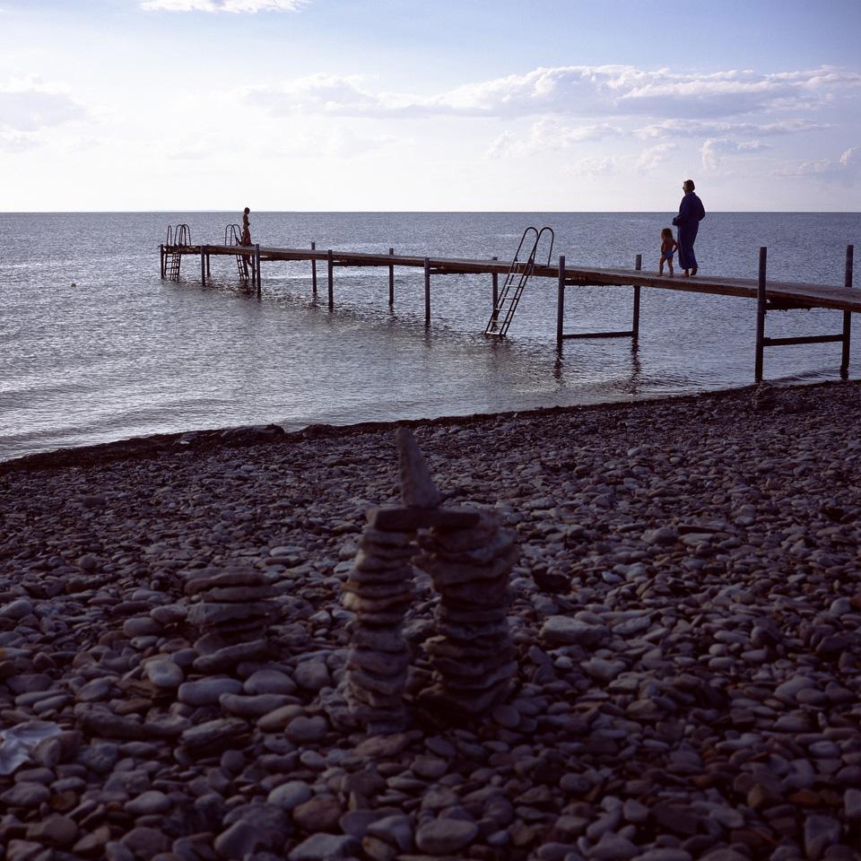 Playas de Öland al atardecer