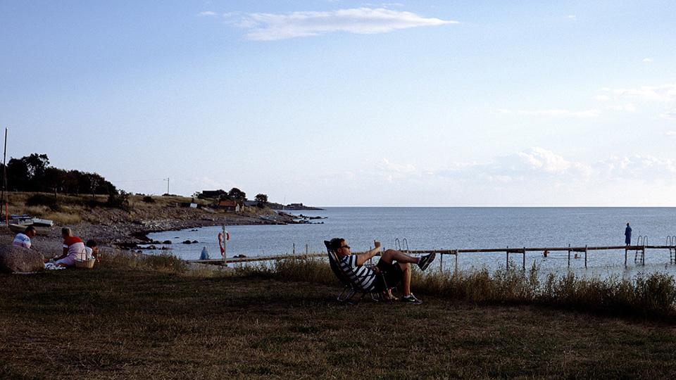 Playas de la isla de Öland al atardecer