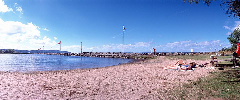 Playa del lago Vättern, en Gränna
