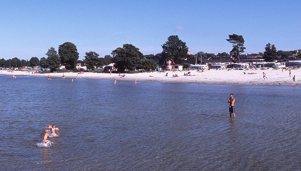 Köpingsvik, playa de arenas blancas en la isla de Öland