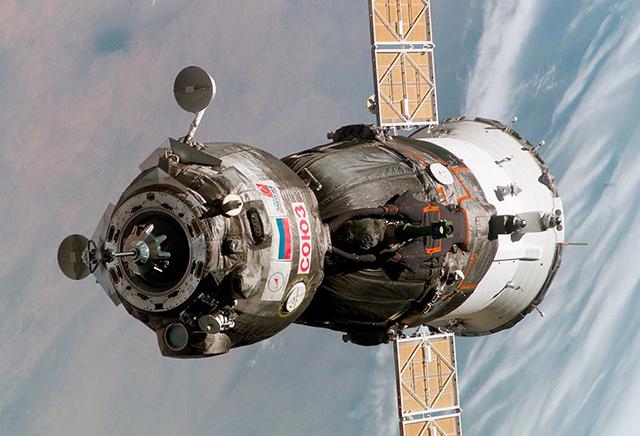 Una Soyuz, toda una leyenda de la era espacial