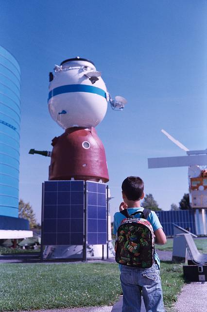 Nave espacial Soyuz en la Cité de l'Espace