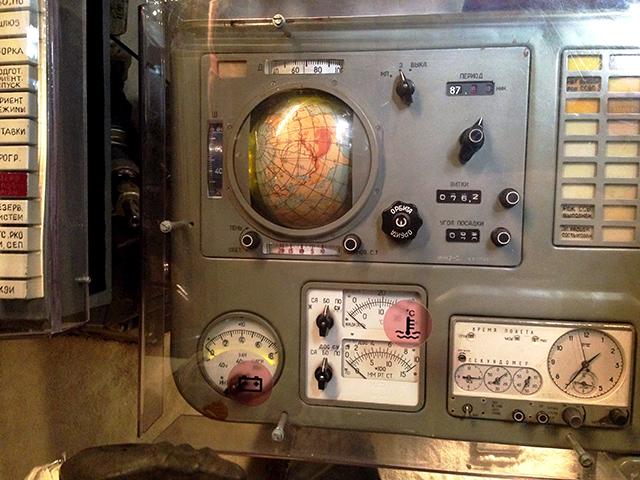 Mandos de una cápsula de mando Soyuz
