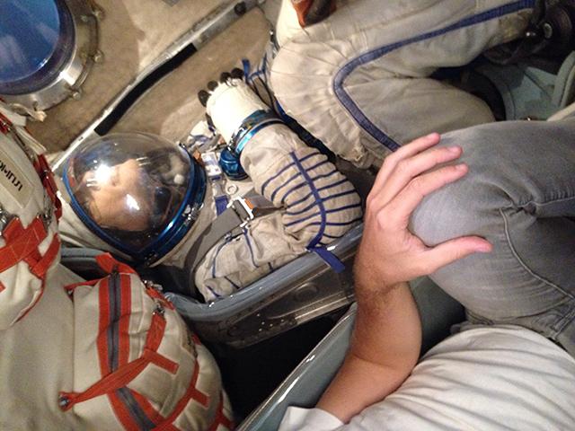 Interior de una Soyuz