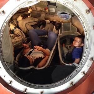 A los mandos de una nave espacial Soyuz