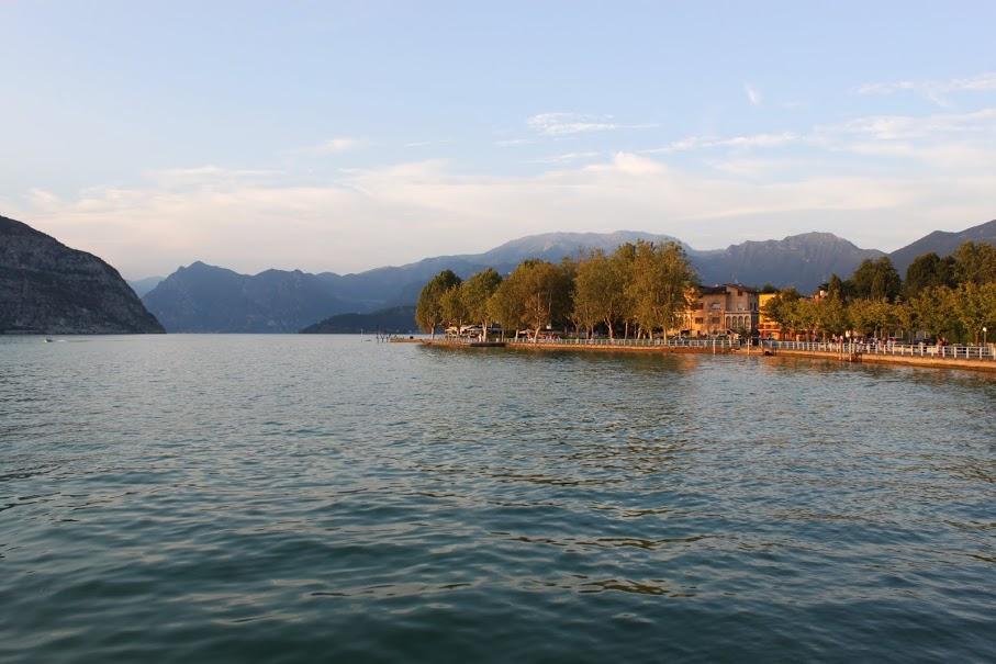 El Lago Iseo en el norte de Italia