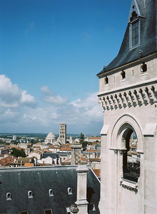 Vistas desde lo alto del ayuntamiento de Angulema