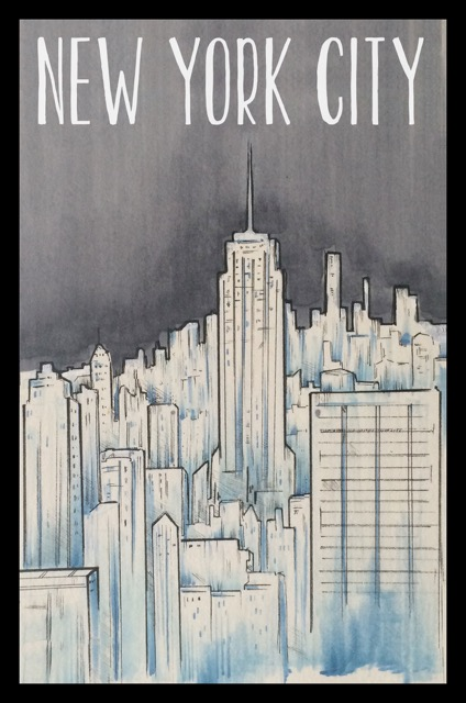 New York ilustración