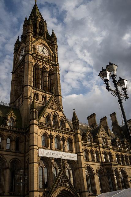 Fachada del ayuntamiento de Manchester