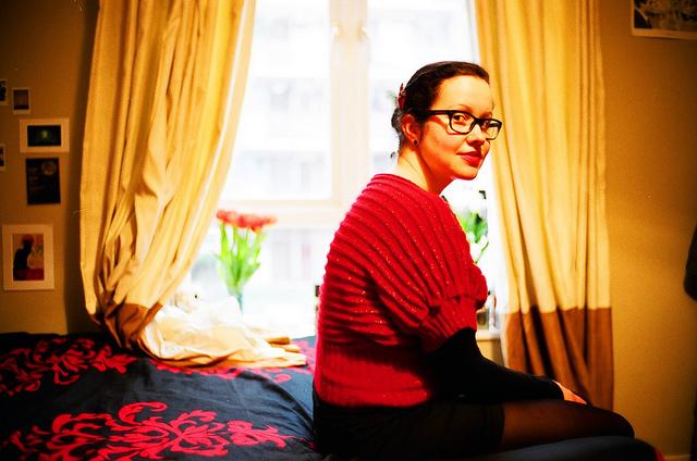 Amalia en su piso de Londres
