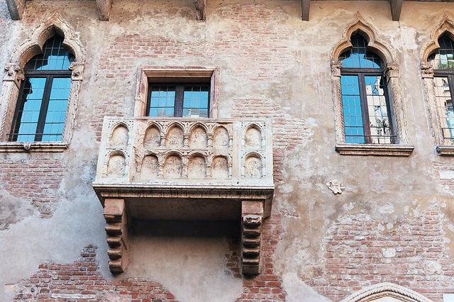 Balcón de Romeo y Julieta, en Verona