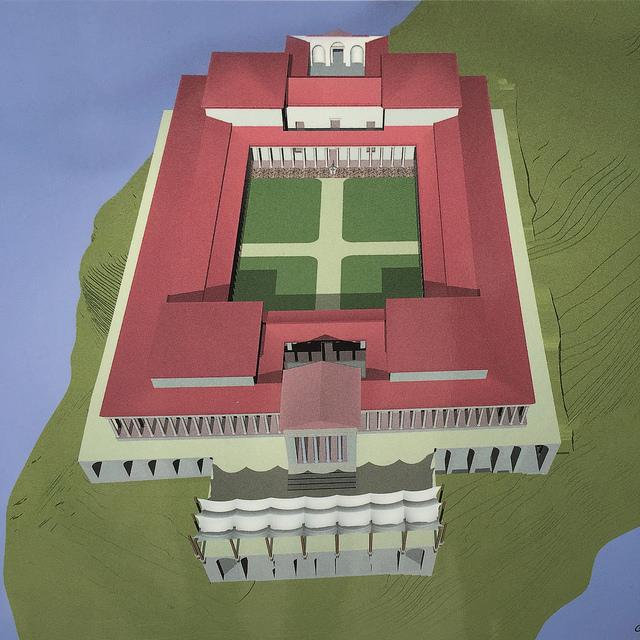 Maqueta de cómo era la enorme villa romana de Sirmione