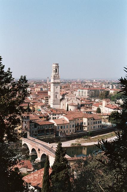 Vistas de Verona desde el Castell San Pietro