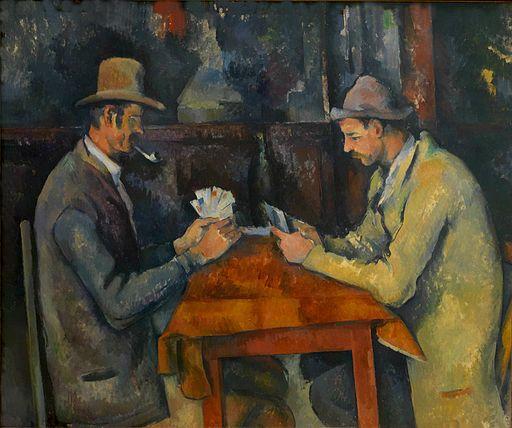 Los jugadores de naipes, Paul Cézanne