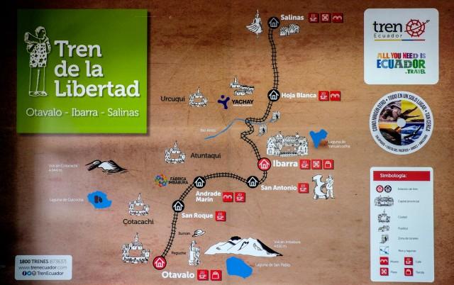Ecuador Quito - Mapa Tren Libertad