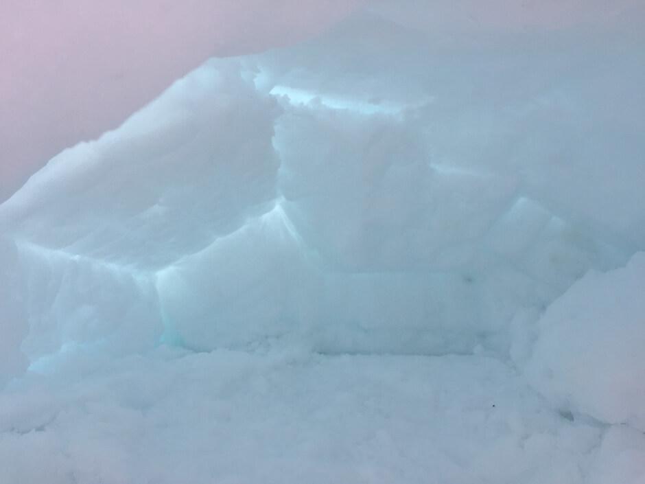 El interior de nuestro iglú para niños