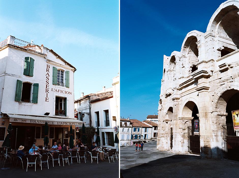 En los aledaños del anfiteatro de Arles
