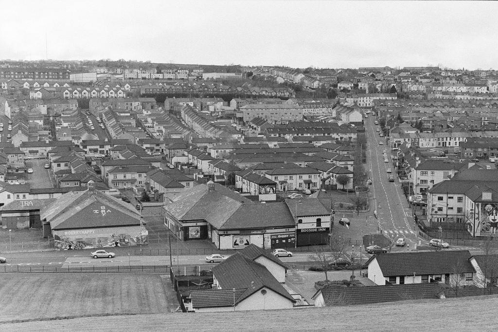 Derry, vistas al barrio de Bogside