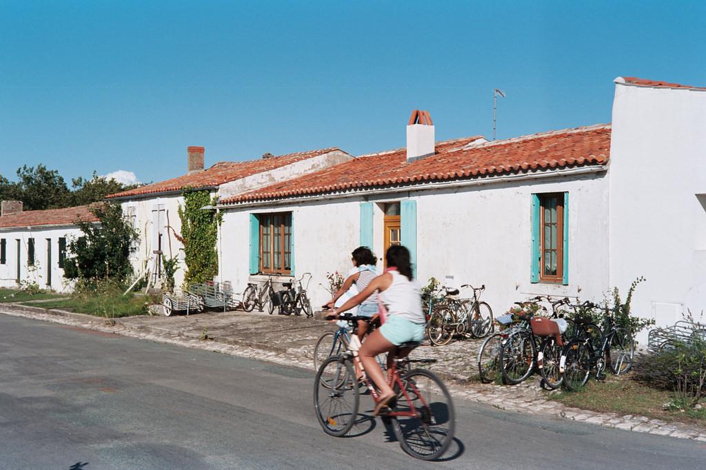 Bicis en la isla de Aix
