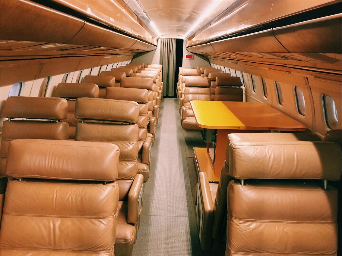 Interior del Concorde expuesto en Aeroscopia